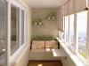 Небольшой балкон в нежных тонах