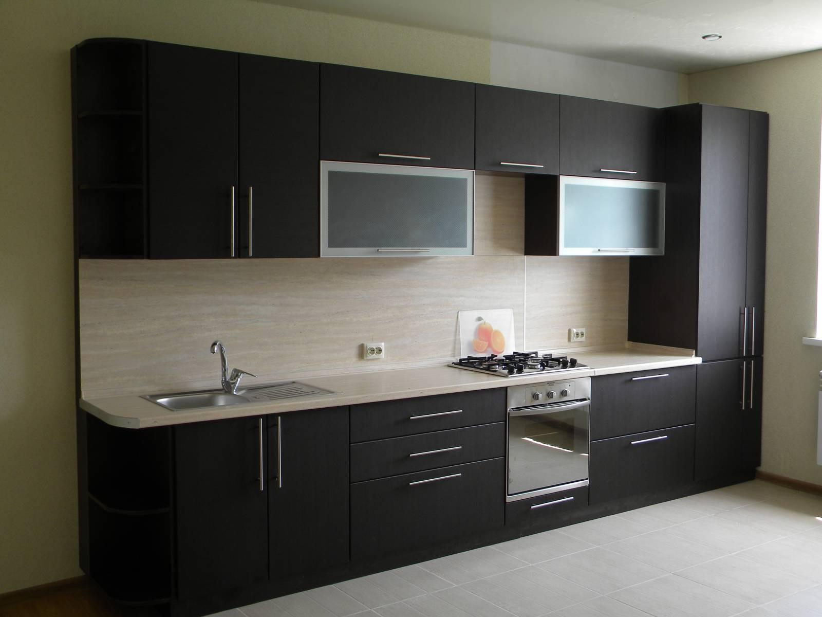 Фото дизайн кухни в цвете венге