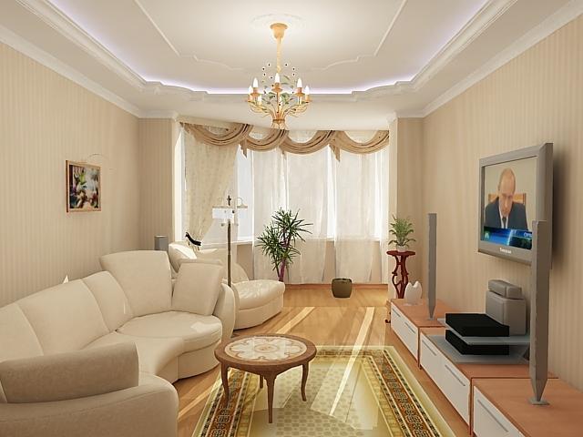 Зал комната дизайн