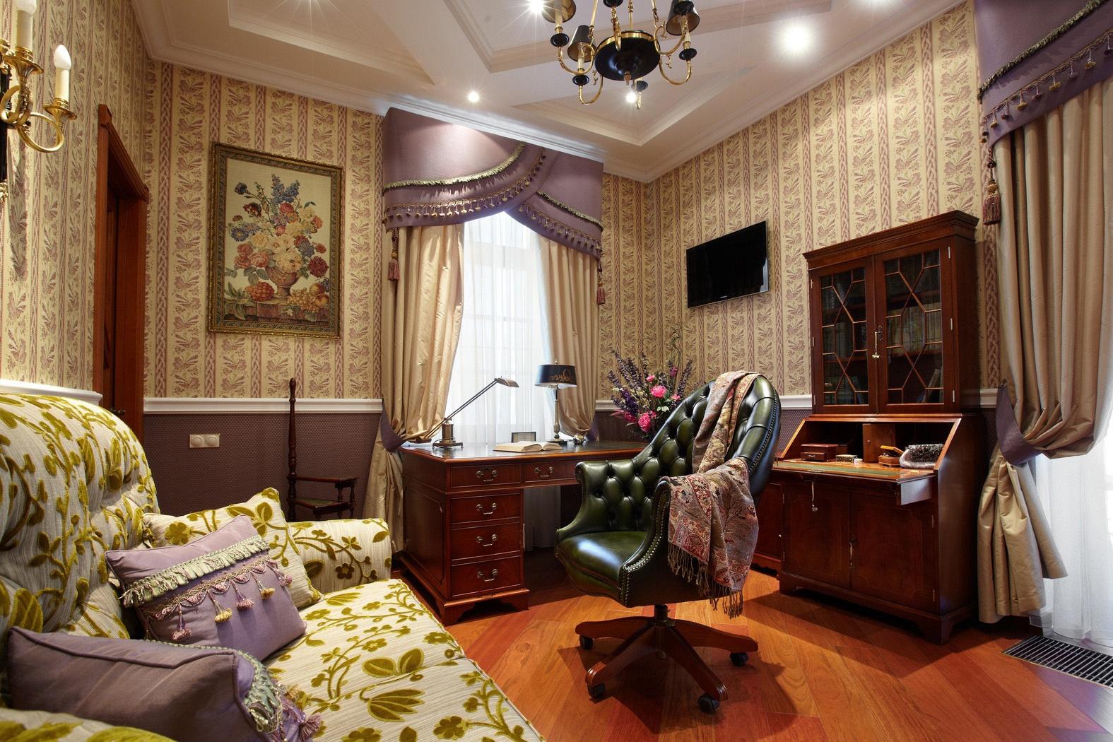 Дизайн гостиннойгалерея в стиле ретро