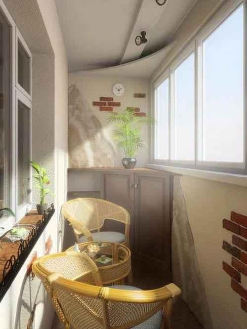 Дизайн балкона в хрущевке: варианты интерьера, перепланировк.