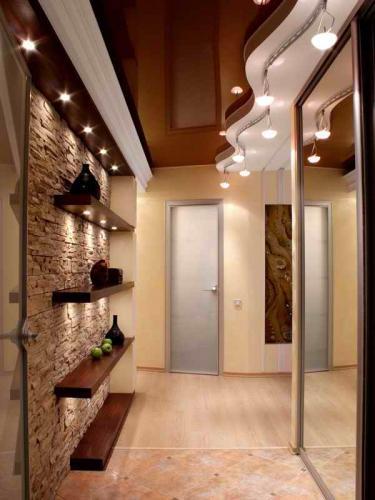 Какой потолок лучше сделать в коридоре фото 545