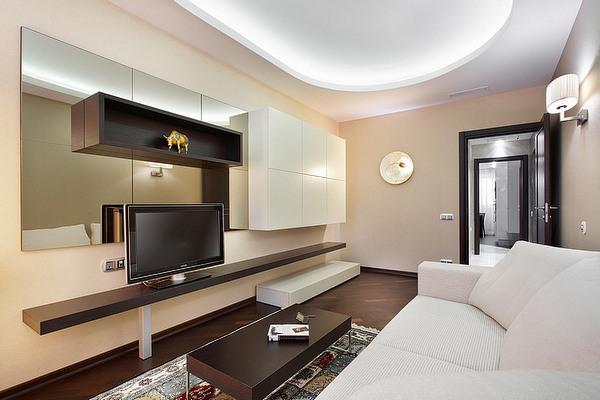 Дизайн зала квартире хрущевке