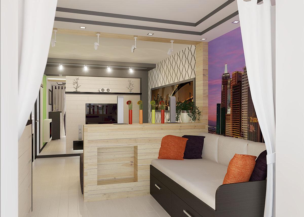 Дизайн для спальни венге