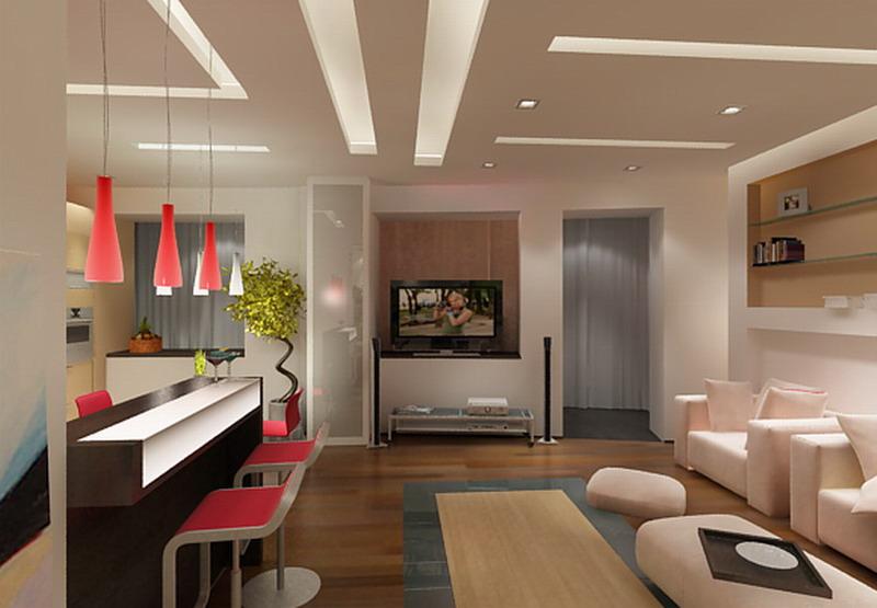 Дизайн интерьера кухня гостиная фото