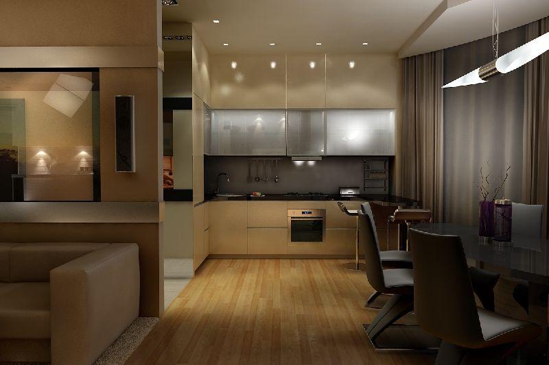 Дизайн кухни и гостиной совмещенной