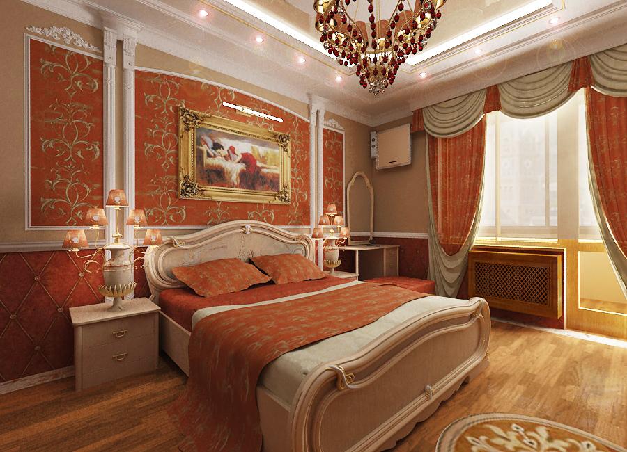 Классическая спальня дизайн