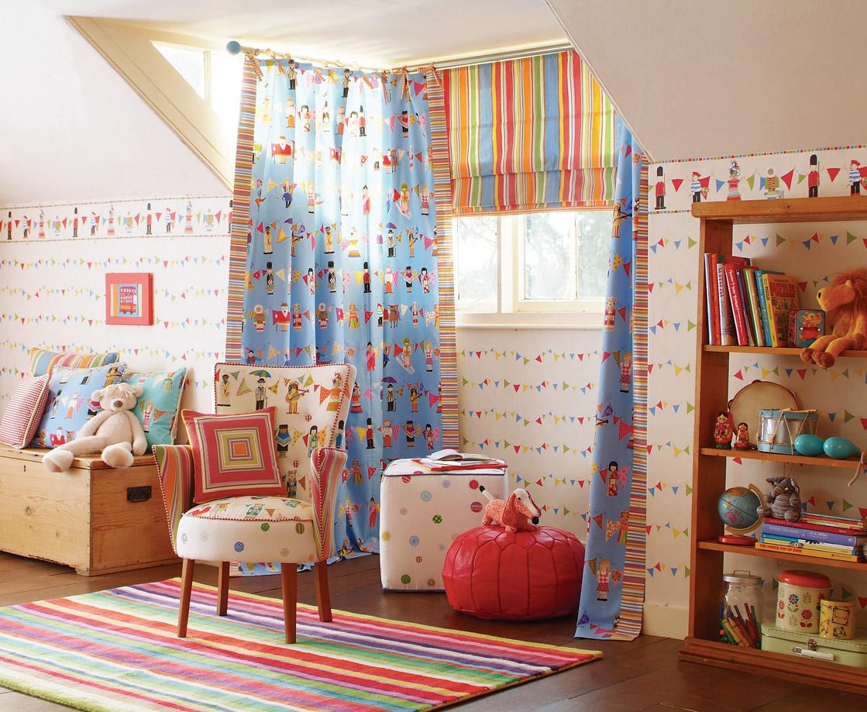 Интерьер штор для детской фото