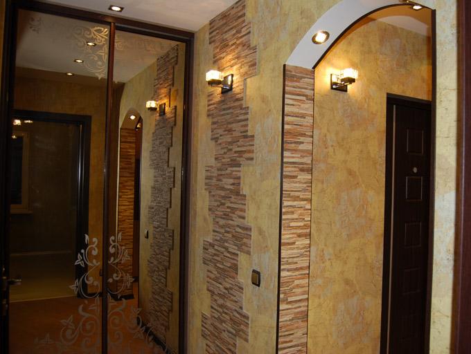 Дизайн арок декоративным камнем 970