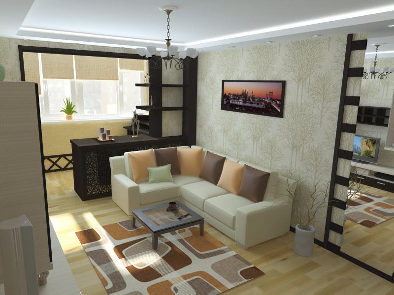 Дизайн гостиной спальни: 116 фото, идеи интерьера гостиной