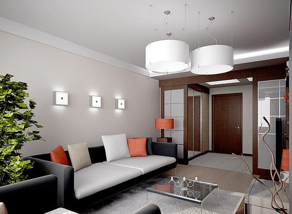 Дизайн двухкомнатной квартиры в панельном доме. фото
