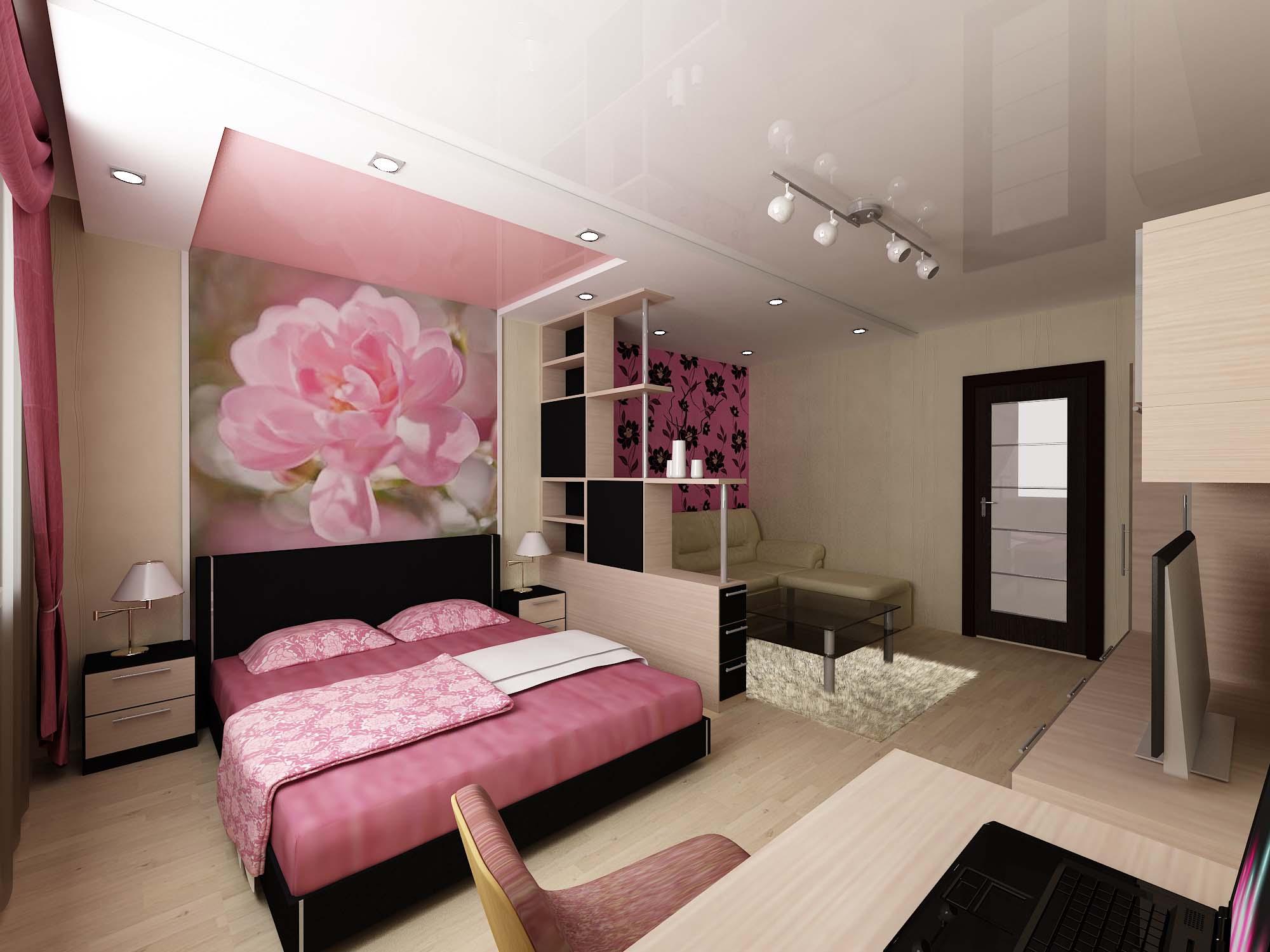 Дизайн зала 40 кв