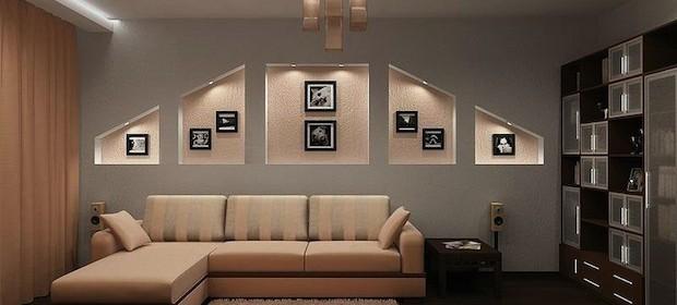 Ниши из гипсокартона в стене: «бесплатное приложение к мебели»