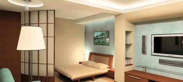Дизайн комнаты в однокомнатной квартиры — 35 фото-идей