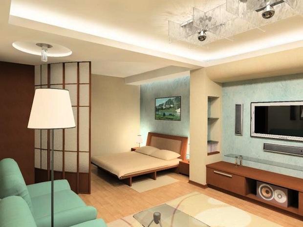 Дизайн однокомнатной квартиры (фото)