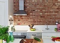 Фотограйфии кухнь с кирпичной стеной на нашем сайте