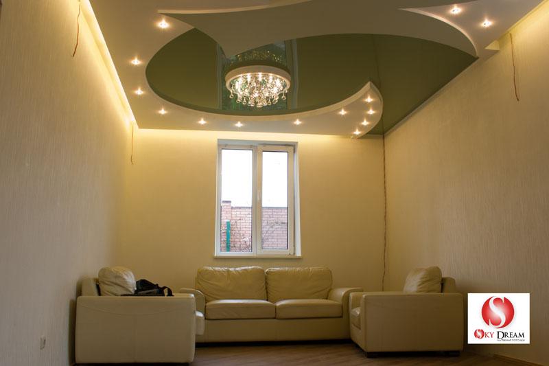 Как сделать потолок в низкой комнате 563