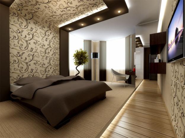 Интерьер обои фото спальни