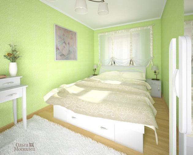 дизайн в спальни в хрущевке фото