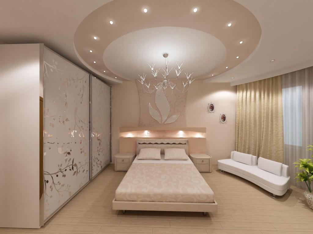 Потолки из гипсокартона своими руками с подсветкой в спальне