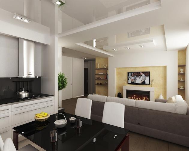 Цвет помещения в дизайне гостиных