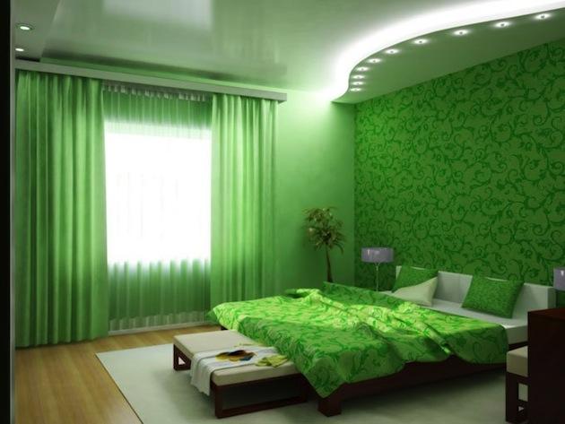 дизайн обоев для маленькой спальни