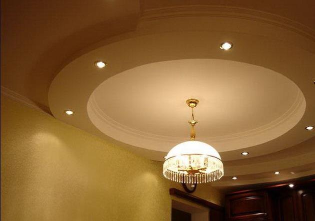 Оригинальные варианты дизайна потолков из гипсокартона