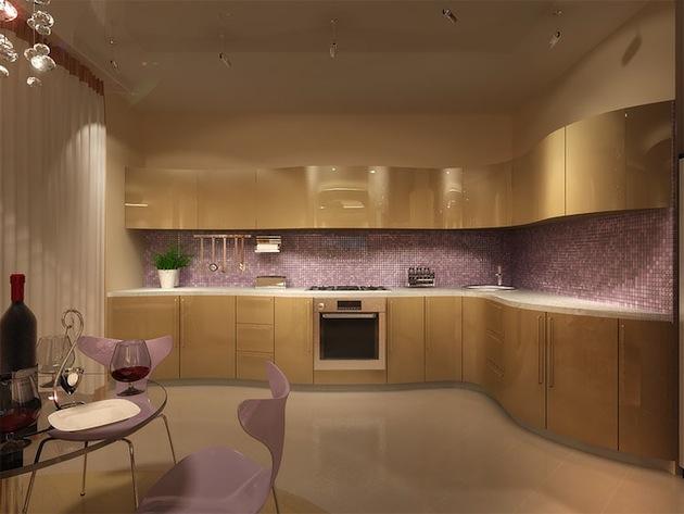 Модерн кухни в частном доме