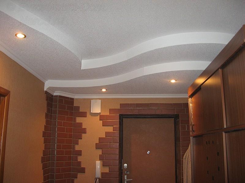 Фото дизайнов потолков из гипсокартона в коридоре