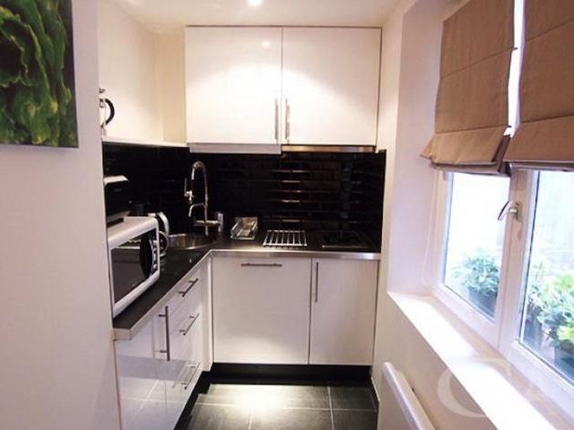 Дизайн маленькой кухни-студии