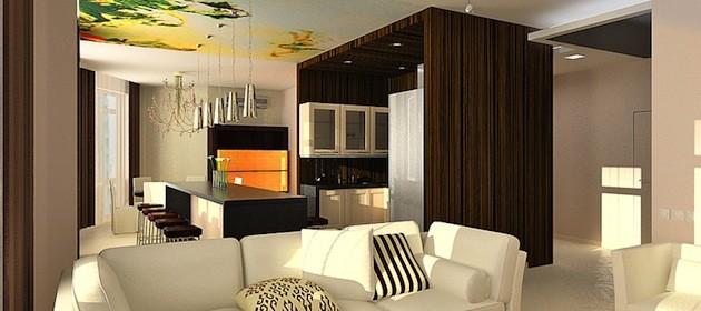 Дизайн кухни совмещенной с гостиной: несколько полезных фото-идей