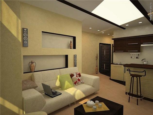 Дизайн кухни студии (фото)