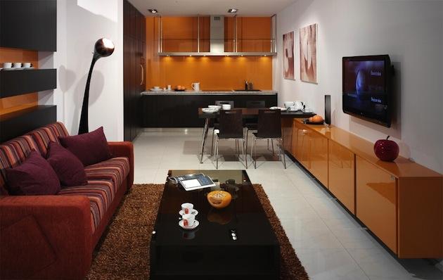 кухни с гостиной в одно помещение