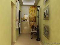 интерьер узкого коридора в квартире
