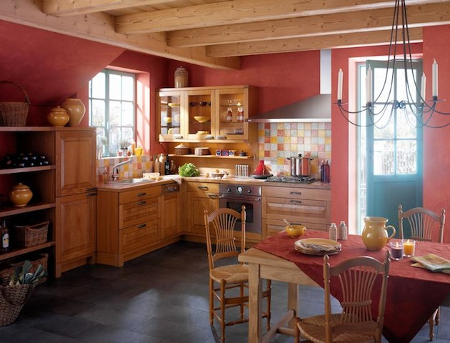 Деревенский стиль в частном доме
