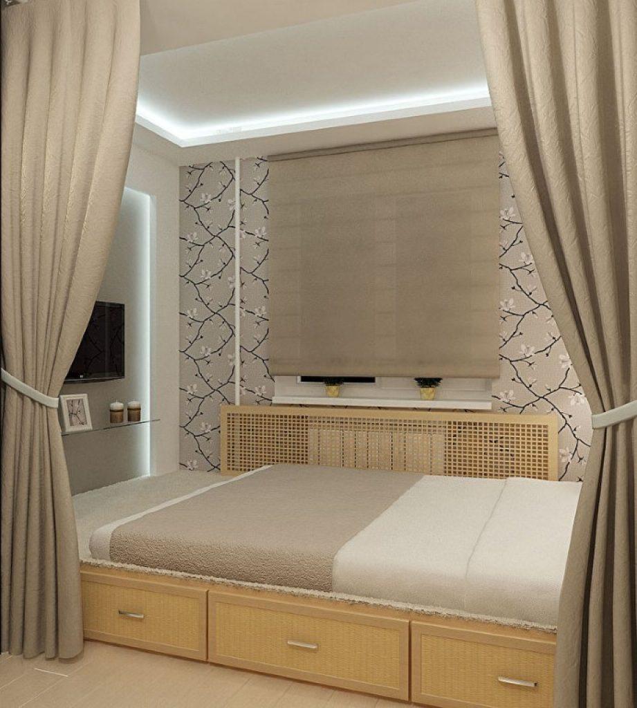 Спальни с кроватью подиум своими руками