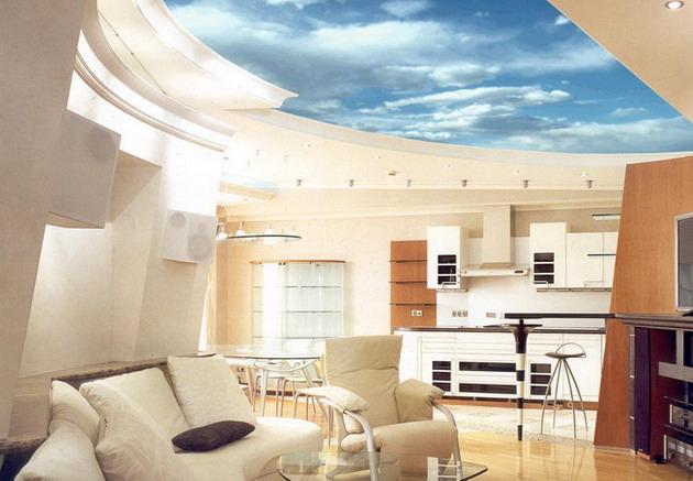 Дизайн потолка из гипсокартона (фото)
