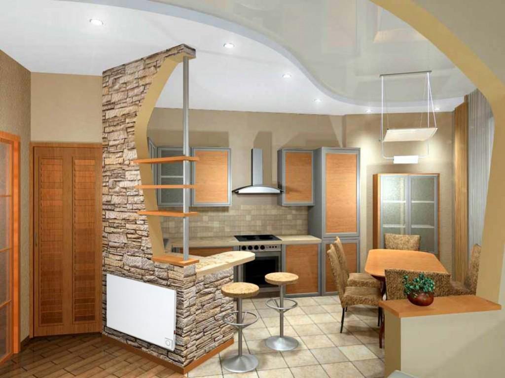 Использование перегородок в оформлении двухкомнатной квартиры