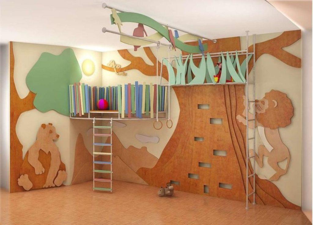 Детская комната для мальчика и девочки: выбранный дизайн дол.