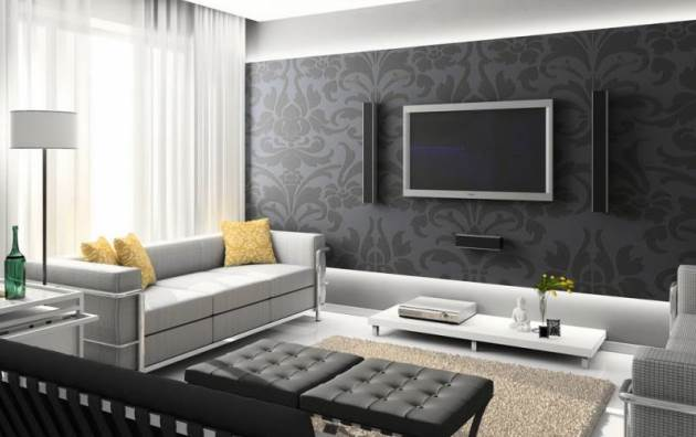 Гармоничный дизайн гостиной