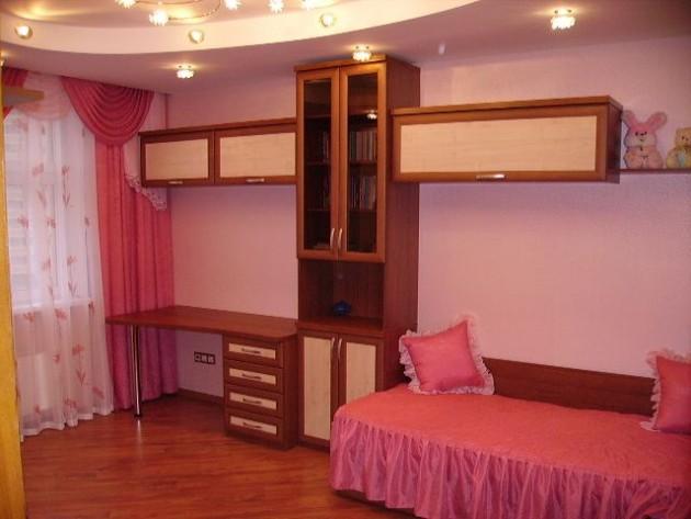Многоуровневые потолки и освещение в детской комнате