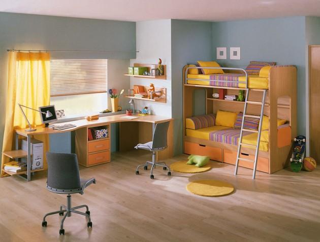 Оригинальная цветовая гамма для комнаты мальчиков