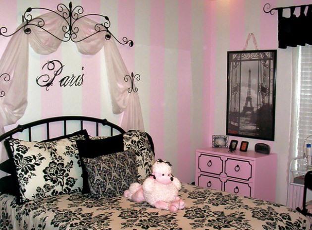 Романтический стиль для комнаты девочки