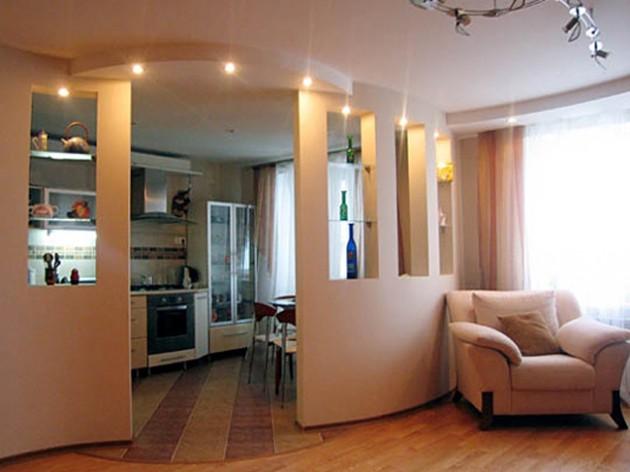 Вариант перепланировки однокомнатной квартиры