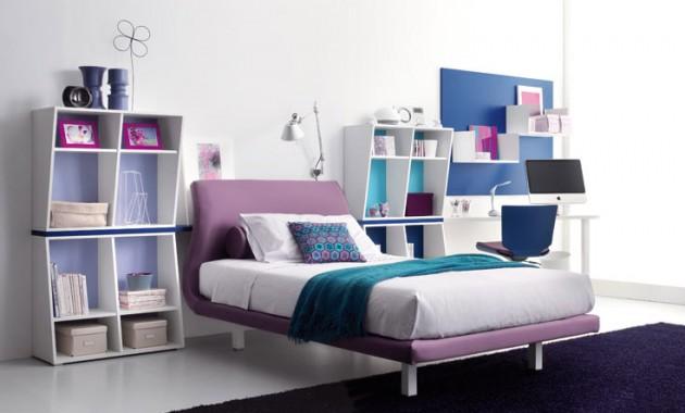 Современный интерьер комнаты девочки-подростка