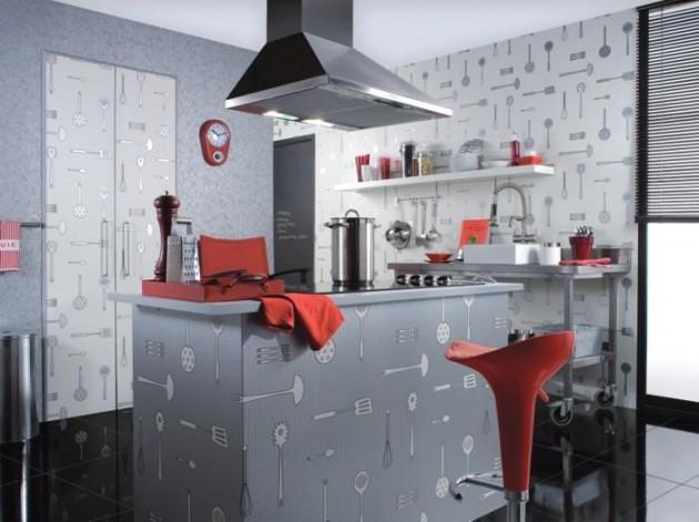 Стилизованные обои для кухни