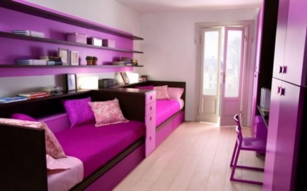 Вариант интерьера комнаты для двух девочек одного возраста