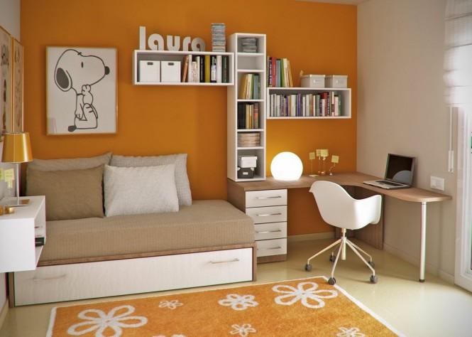 Дизайн подростковой комнаты рабочий стол