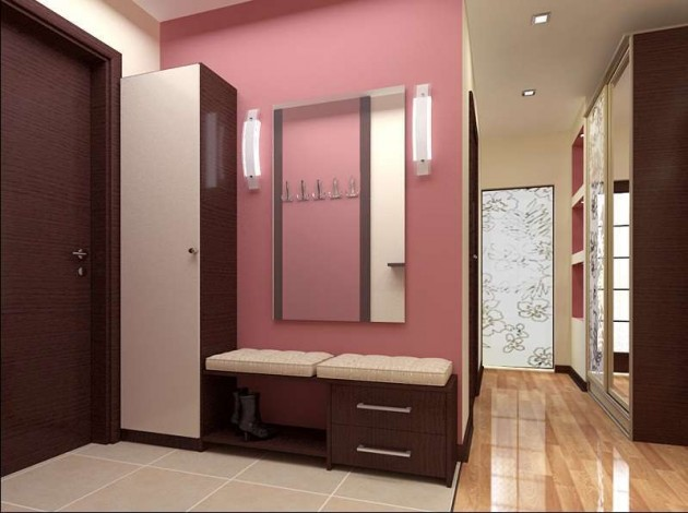 Дизайн узкого коридора в маленькой квартире