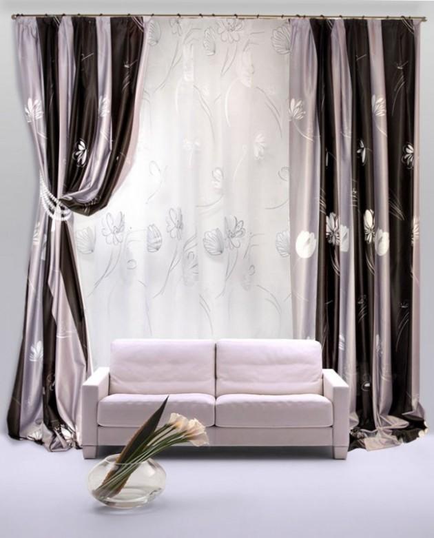 Гармоничное сочетание штор с основным интерьером